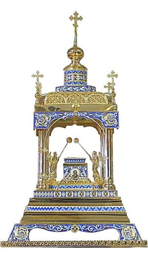 Orthodox  tabernacles: Tabernacle no.6b (filigree)