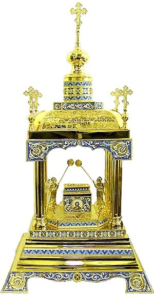 Orthodox  tabernacles: Tabernacle no.6c (filigree)