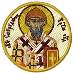 Embroidered icon - Holy Hierarch Spyridon of Tremethius
