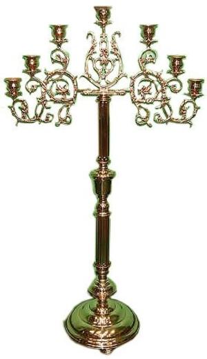 Floor seven-branch altar stand (candelabrum) - Large