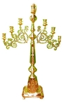 Floor seven-branch altar stand (candelabrum) with Angel
