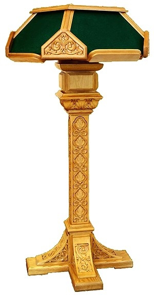 Church lecterns: Kliros carved lectern