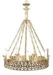 One-level church chandelier (horos) - 15 (7 lights)