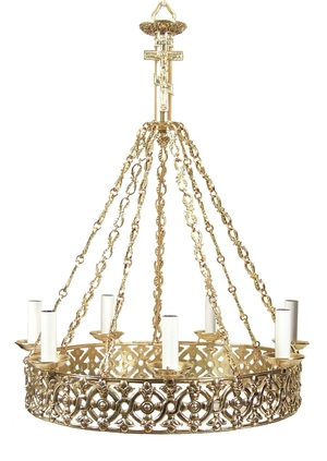 One-level church chandelier (horos) - 15 (7 lights)