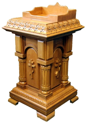 Donation table with candle compartment (candle dispenser)