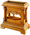 Church furniture: Carved reliquary table