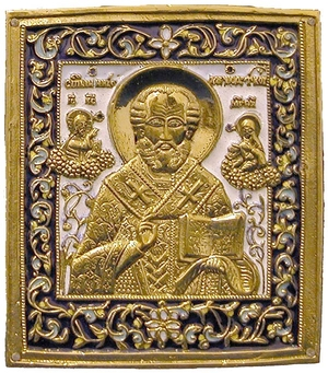 Metal icon: St. Nicholas the Wonderworker