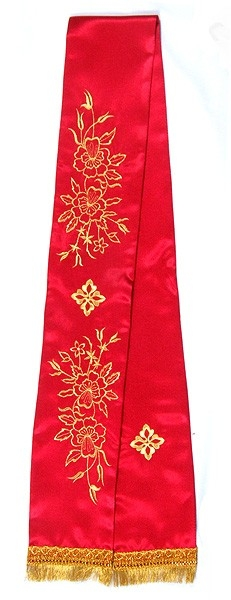 Embroidered bookmark Multi Flower cross