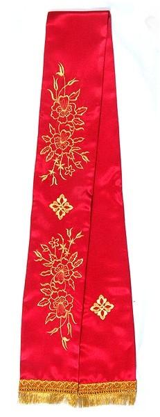 Embroidered bookmark Multi Flower cross