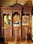 Church kiots: Triple carved icon case (kiot)