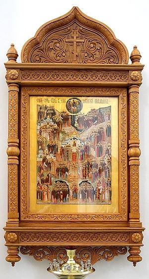 Church kiots: Optina carved icon case (kiot)