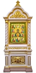 Church kiots: Pyukhtitsy carved icon case (kiot)