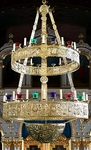 Two-level church chandelier (horos) - (26 lights)