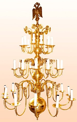 Orthodox Church three-level chandelier (36 lights)