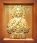 Carved icon: of Holy Blessed Alexis a Man of God