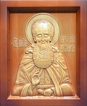 Carved icon: of Holy Venerable Arsenius the Great