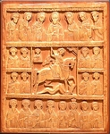 Carved icon: Miracle Victory of St. George