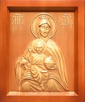 Carved icon: of the Most Holy Theotokos of the State