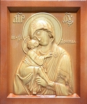 Carved icon: of the Most Holy Theotokos of Don