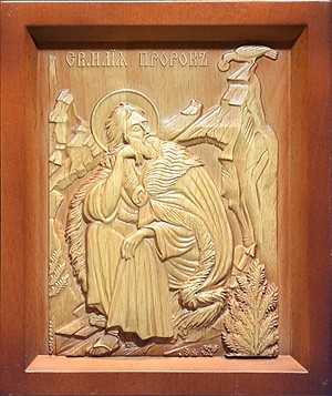 Carved icon: of the Holy Prophet Elijah