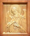 Carved icon: of the Holy Prophet St. John the Baptist