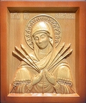 Carved icon: of the Most Holy Theotokos of the Seven Arrows