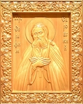 Carved icon: of Holy Venerable Seraphim of Sarov
