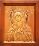 Carved icon: of the Most Holy Theotokos Eleusa