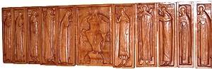 Portable iconostasis - the Deisis row