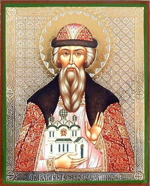 Religious Orthodox icon: Holy Right-believing Prince Vsevolod of Pskov