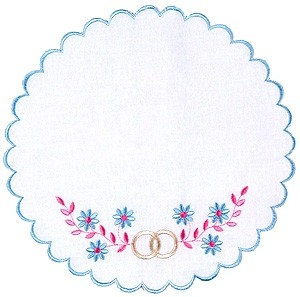 Embroidered napkin Holy Wedding