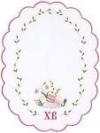 Embroidered napkin Palm Sunday