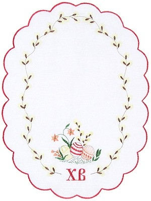 Embroidered napkin Palm Sunday