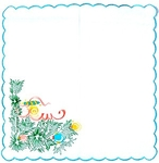 Embroidered napkin Nativity & New year