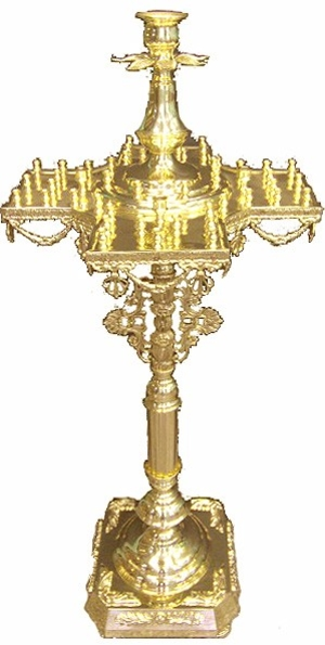 Floor candle-stands: Cross candle-stand