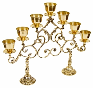 Seven-branch table 2-leg Chapel candelabrum