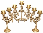 Seven-branch table 2-leg Narrow candelabrum