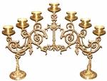 Seven-branch table 2-leg Narrow candelabrum