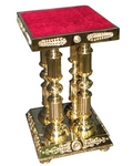 Church furniture: Four-leg support