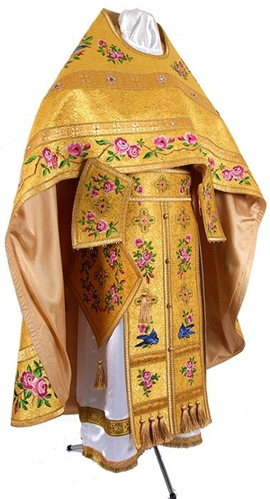 Embroidered Russian priest vestments Eden birds (52-58/174) - 0 off