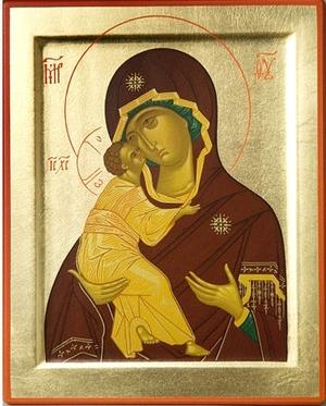 Byzantine icon: The Most Holy Theotokos of Vladimir
