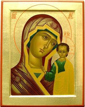 Byzantine icon: The Most Holy Theotokos of Kazan - 40