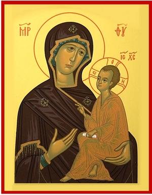 Byzantine icon: The Most Holy Theotokos of Tikhvin
