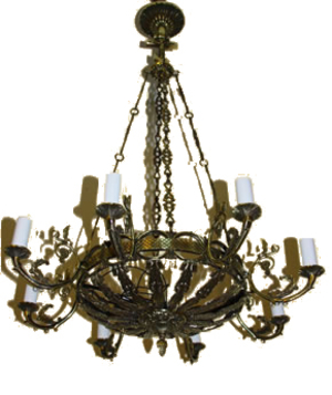 One-level church chandelier - 9
