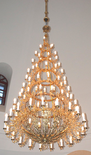 Seven-level church chandelier - 3 (84 candles)