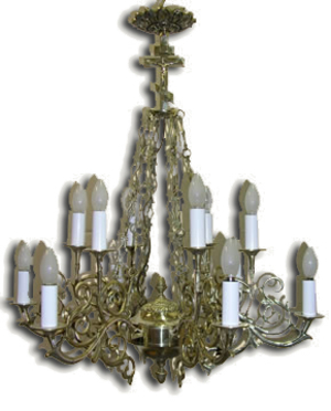 One-level church chandelier - 14