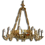 One-level church chandelier - 16