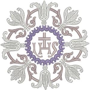 Vintage Ecclesiastical Design 741 embroidered applique