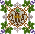 Vintage Ecclesiastical Design 712 embroidered applique
