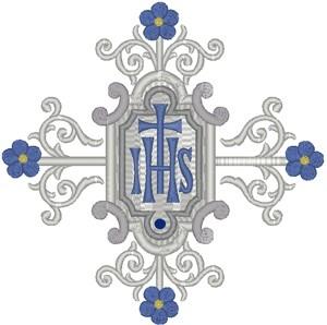 Vintage Ecclesiastical Design 698 embroidered applique